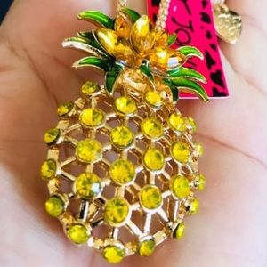 BETSEY JOHNSON~ Large Pineapple Necklace/Brooch